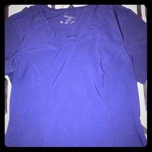 Navy Blue scrub top